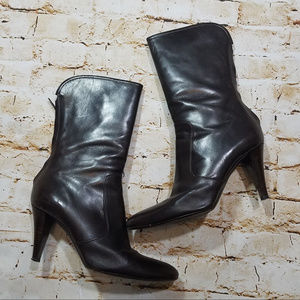 Cole Haan Brown Leather Italian Mid Calf Boots